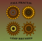 FALL FRACTAL GIMP BRUSHES by a2j3