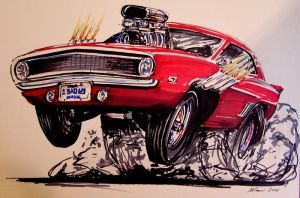 Car Caricature by itva