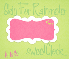 Skin For Rainmeter SweetClock by Isfe