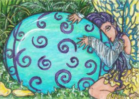 Fairy Egg (ACEO) by Keyshe54