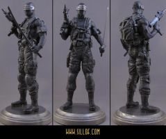 Snake Eyes Statue by sillof