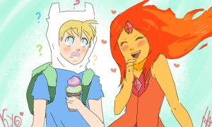 Flame Princess and Finn by vanush07