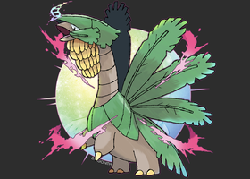 Mega Tropius by Dragonith