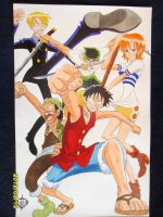One Piece original Straw Hat Gang Homage 11x17 by SSaruman
