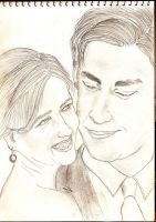 Jim and Pam from The Office by life1-version2