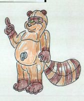 tanuki pooltoy by heuschrecke13