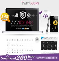 Download 200 Free Icons by atifarshad