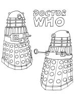 Daleks Line Art by whitestarflower