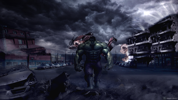 Hulk Photo Manipulation WALLPAPER by Redhz