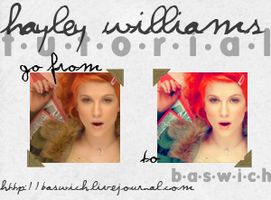 Hayley Williams Icon Tutorial by randomflowers