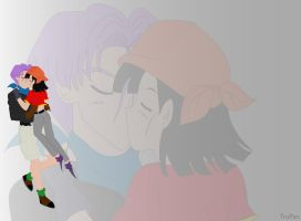 Pan and Trunks Kiss by ArielPartOfYourWorld