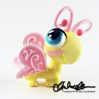 Buttershy custom MLP/LPS crossover toy by thatg33kgirl
