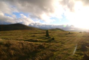 Mitchell's Fold Stone Circle 2 by Aniallation