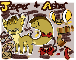 Jasper And Asher Reference Sheet 2013 by winterei