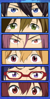 Free! Iwatobi Swim Club Eyes by Glitzerland