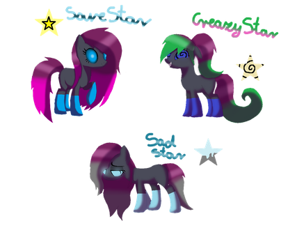 Sisters Stars - MLP OC by Qp007
