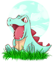 Totodile by Bubonicc