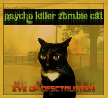 Fake Album Psycho Zombie Killer Cat by surlana