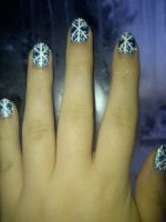 Jack Frost Nail Art (close-up) by DarkLilly1991
