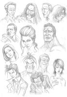 Comic faces 1 by ric3do
