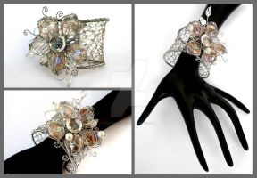 Flower cuff by Faeriedivine