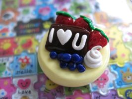 I LOVE U cheesecake by PuniTotoro