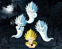 Gotenks and the Super Ghosts by eggmanrules