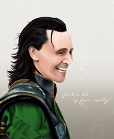 Loki - The God of Mischief by metal-marty