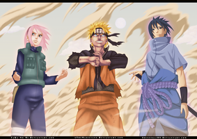 Naruto 632 - Team 7 ! by TaKa-No-Mi