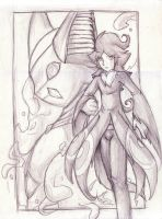 Sketch- Accept My Challenge by MythicDragoness13