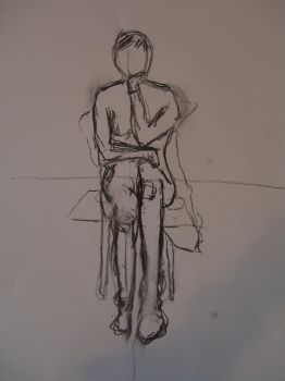 Figure drawing of a young woman 05 by R4VI4TOR