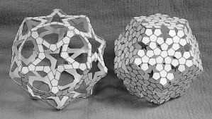 Star and Flake Dodecahedra 2008 (paper) by albertpcarpenter