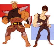 fotns - ken and raoh by spoonybards