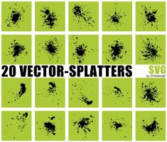 20 Vector-Splatters SVG by Chrisdesign