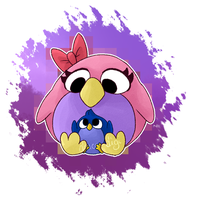 Penny and Baby Lolp by Draco-Digi