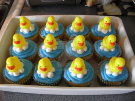 Rubber Ducky cupcakes by AnyaZoe
