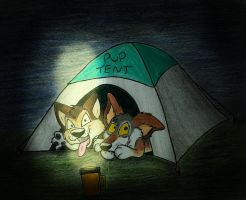 Pup Tent Pranksters by wahyawolf
