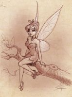 Tinkerbell for a little fan by Sabinerich