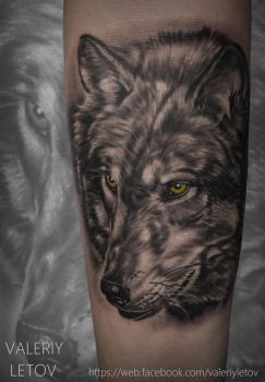 Wolf Tattoo Realism by ValeriyLetov