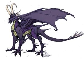 Purple Dragon by IzaPug