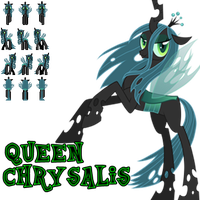MLP RPG Sprites (Chrysalis - TALL) by GameCommentaries