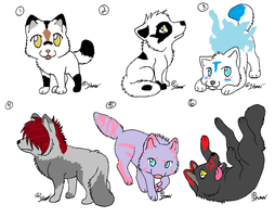 Canine Adoptables:OPEN by WhollyUnwind