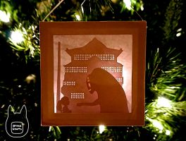 Spirited Away Paper Lightbox Ornament (Tutorial) by studioofmm