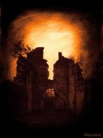 Abbey in ruins II by Abgrundlich