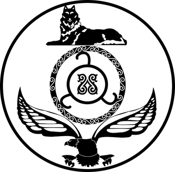 State of Chechen-Ingushetia, USNC : Emblem by Coliop-Kolchovo