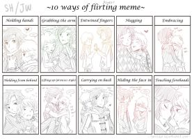 10 ways of flirting and sweet meme by ibahibut