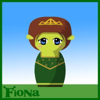 Fiona Doll - Shrek by hallatt