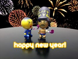 Happy New Year!  Daily photo. by StateOfTheArt-toys