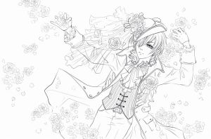 Ciel lineart by airin-ater