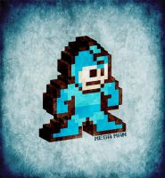 3D 8-Bit Mega Man by KaYoTiK